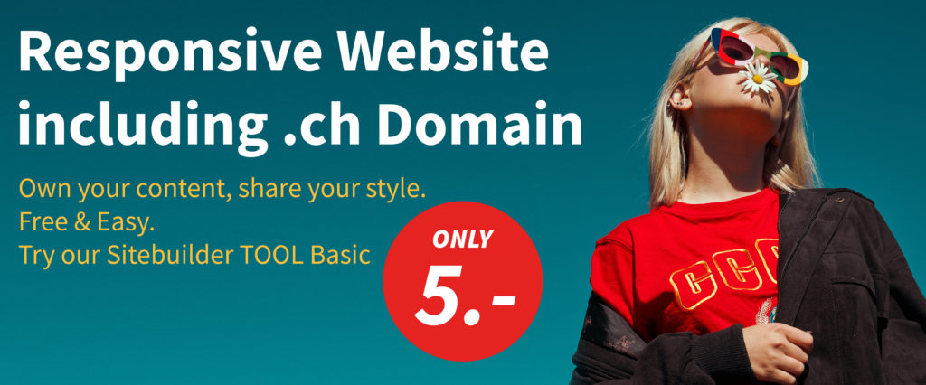 5 Francs for a responsive website and a .ch domain