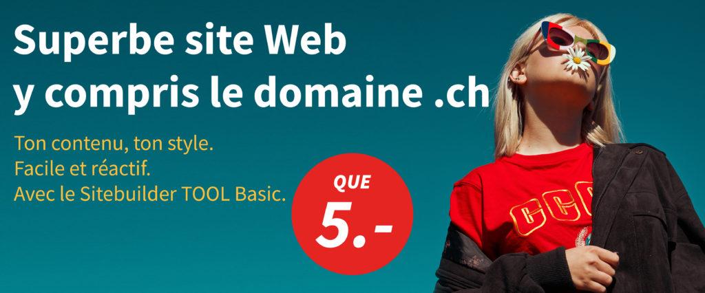 Superbe site Web y compris le domaine .ch