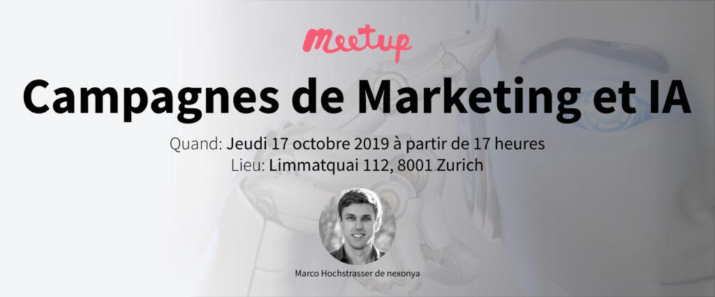Campagnes de Marketing et IA. Notre prochain Meetup