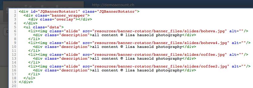 HTML-Code im YOLA HTML-Widget