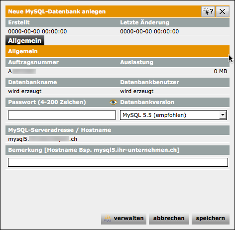 MySQL Datenbank erstellen